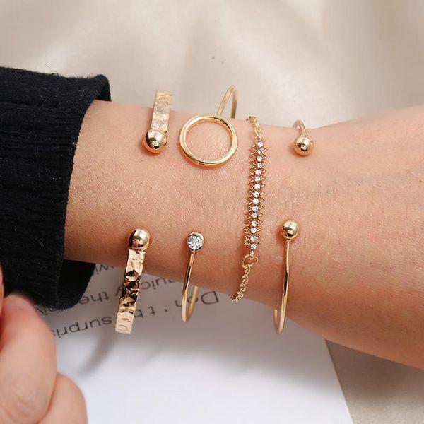 Simple Flower Fish Bone Middle East Adjustable Ladies Bracelet Wholesale NHKQ194193
