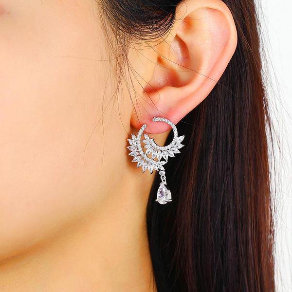Korean fashion jewelry fashion handmade crystal zircon earrings new earrings wholesale NHKQ194196