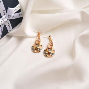 S925 silver needle European and American metal earrings high-end contrast color earrings minimalist drip glaze earrings NHWF194227's discount tags