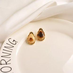 Simple geometric earrings women personality water drop resin earrings wild earrings NHWF194230's discount tags