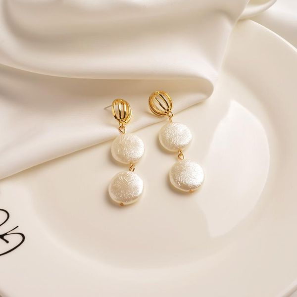 Tassel earrings women personality pearl earrings simple golden earrings NHWF194232