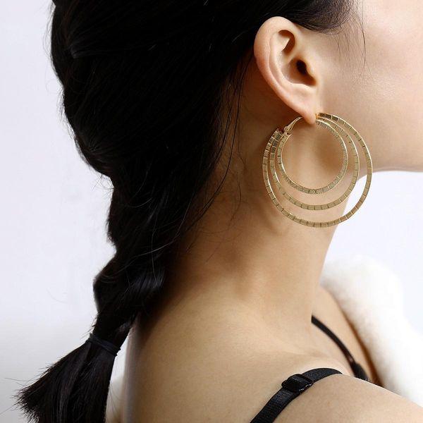 Joyería Nueva moda Pendientes redondos Pendientes para mujer NHXR194241