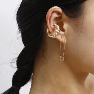 Fashion creative new earrings diamond earrings ear clip earrings set women NHXR194242's discount tags