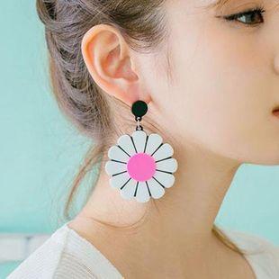 Flower earrings exaggerated sun flower earrings women NHMS194256's discount tags