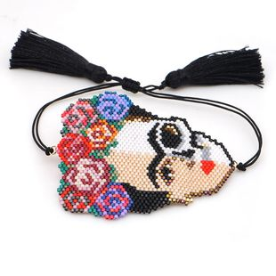 New cartoon version of the artist Frida Mizhu hand-woven bracelet NHGW194306's discount tags