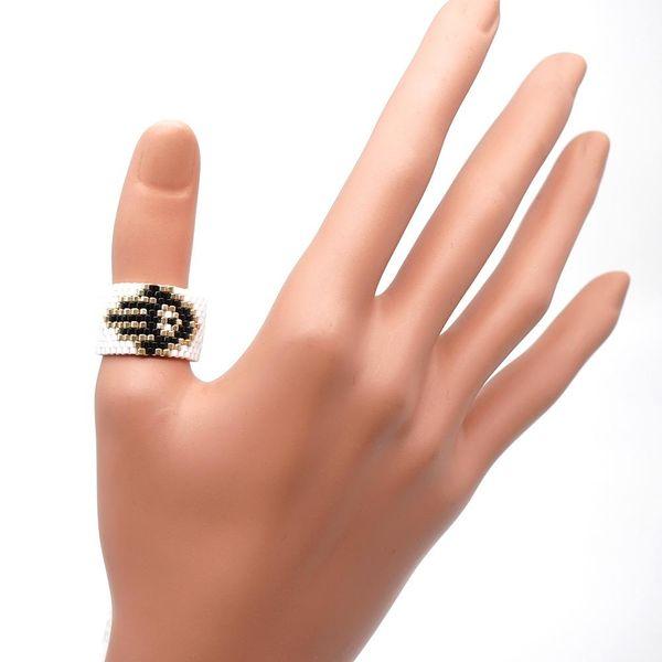 Hot Sale Palm Totem Miyuki Beads Hand Woven Bohemian Ring NHGW194325