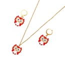 Cartoon version of owl pattern jewelry ladies necklace rice beads woven jewelry NHGW194339