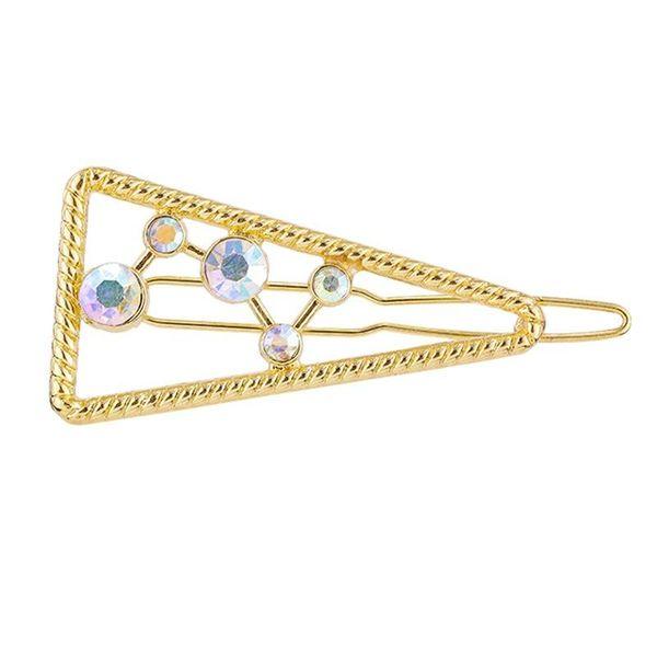 Hair clip set simple rhinestone edge clip alloy hair accessories headdress NHKC194359