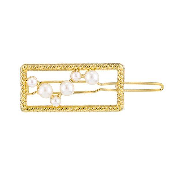 Hair Clip Set Simple Faux Pearl Edge Clip Alloy Hair Accessories Headdress NHKC194362