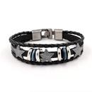 Mens Bracelet Pentagram Leather Rope Bracelet Leather Bangle NHHM194367