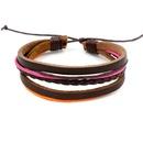 Handknitted real leather bracelet Korean fashion colorful bracelet bracelet costume gift NHHM194368