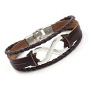 Lucky 8character leather bracelet  Aliexpress burst leather 8character bracelet NHHM194405