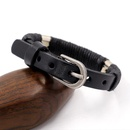 Retro Fashion Mens Leather Bracelet Black Belt Buckle Rope Bracelet Jewelry Accessories Wholesale NHHM194419