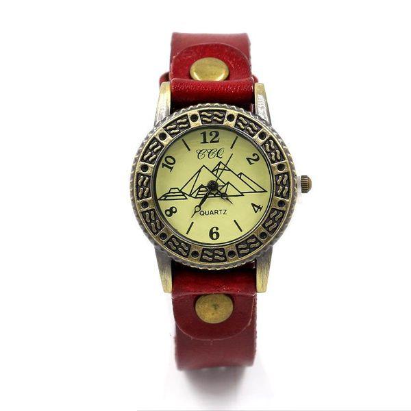 Accessories Vintage Women's Watches Colored Leather Straps Quartz Watches Student Watches Wholesale NHHM194445