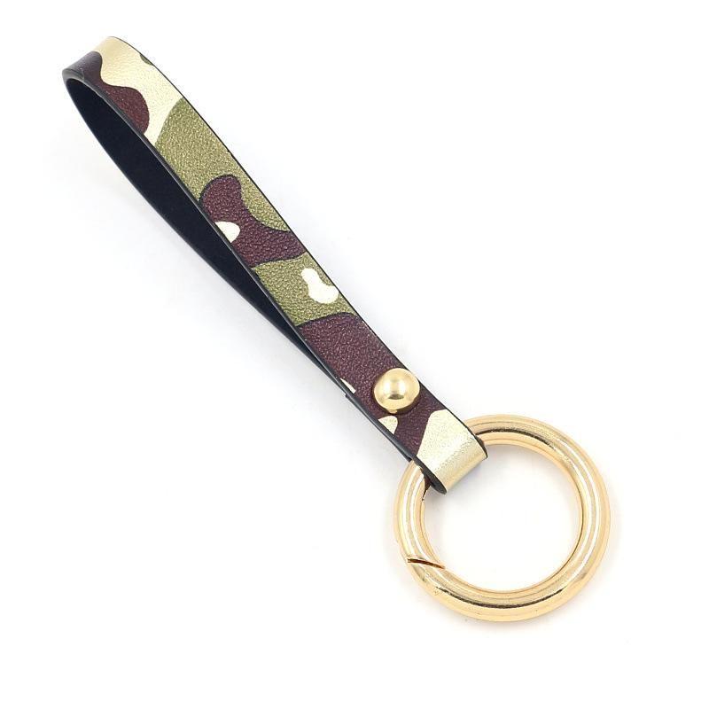 Camouflage PU Leather Key Ring Car Key Bracelet Stylish Exquisite Gift NHHM194456