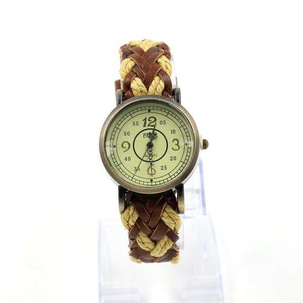 Fashion cowhide woven vintage watch bracelet watch quartz watch NHHM194499
