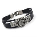 New bracelet men punk retro alloy eagle leather bracelet fashion jewelry multilayer leather jewelry wholesale NHHM194501