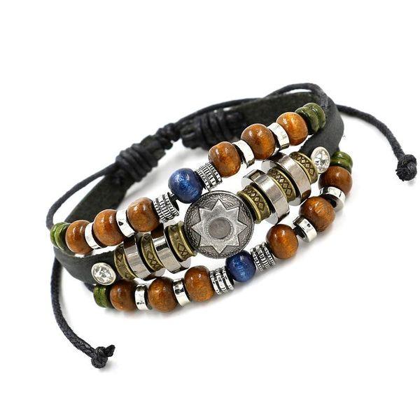 Wholesale beaded ladies leather bracelet fashion accessories NHHM194503