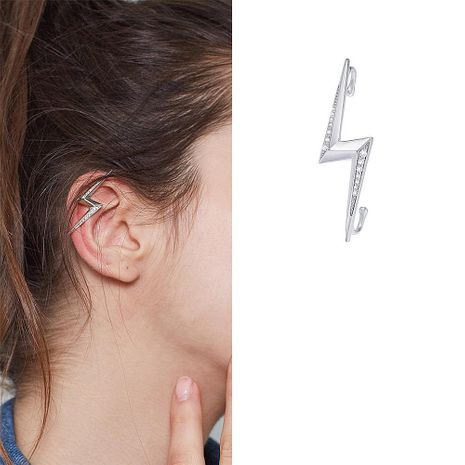 Lightning Shape Diamond Ear Contour Clip Adjustable Hook Ear Ear Cochlear Bone Clip NHYQ194533's discount tags