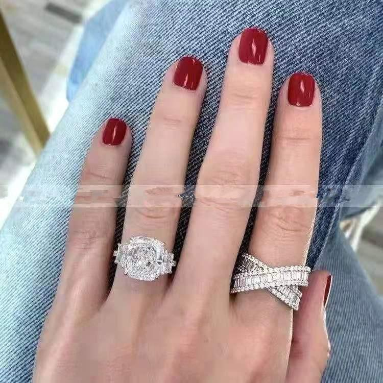 Copper micro inlaid crystal ring fashion zircon intertwined ring women NHYQ194538