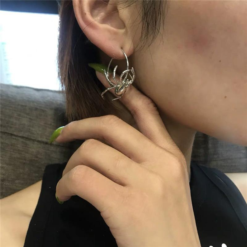 Simple Spider Earrings Silver Pin Earrings Fashion Earrings Wholesale NHYQ194543