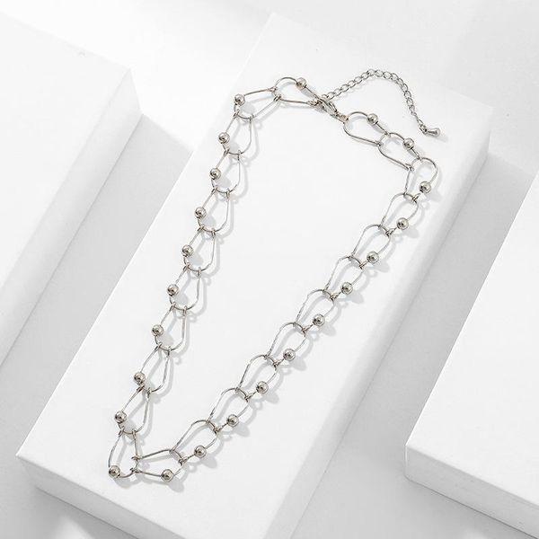 Dark punk metal retro choker  women's necklace clavicle chain short neckband NHLL194611