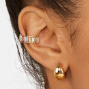 New multicolor glass diamond jewelry simple Cshaped stud alloy geometric color diamond earrings NHLL194617