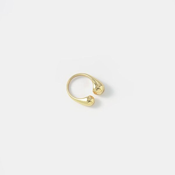 New brass opening bright gold ring simple personality ring jewelry wholesale NHQS194678