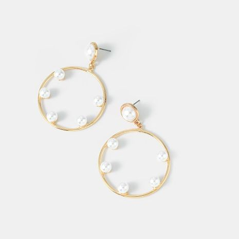 New Fashion Pearl Earrings Hollow Circle Earrings NHQS194679's discount tags
