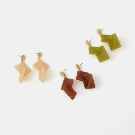 New geometric earrings women boho resin acetate simple fashion earrings NHQS194680's discount tags