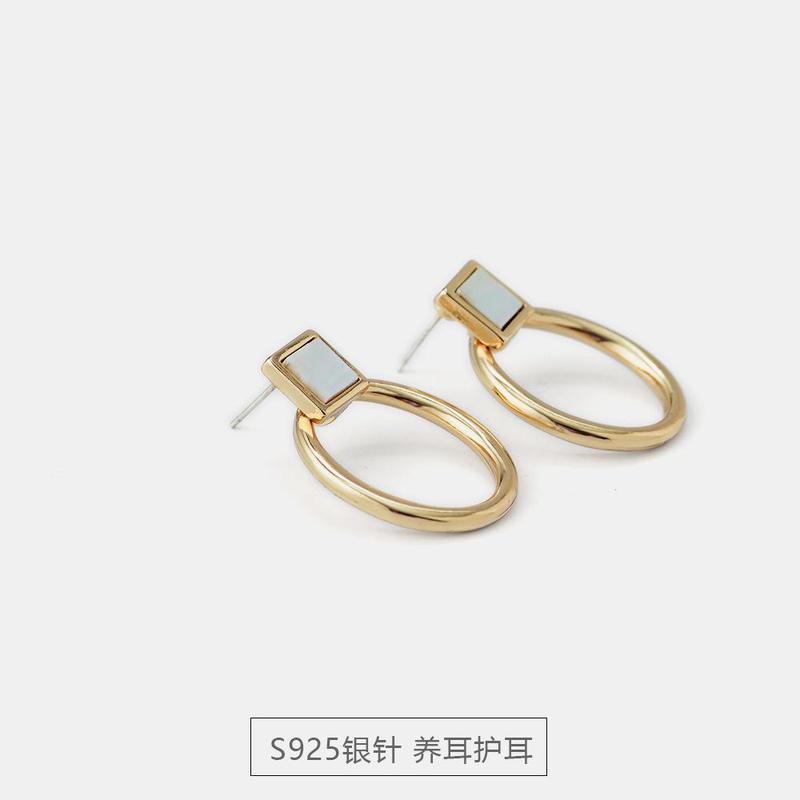 New S925 Silver Shell Earrings Simple Fashion Earrings NHQS194681