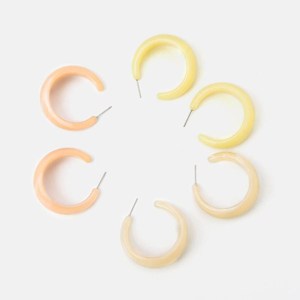 New popular resin candy color C-shaped earrings simple fashion earrings jewelry NHQS194682