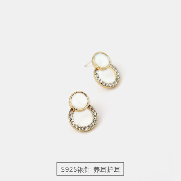 New S925 Silver Simple Creative Earrings Fashion Girl Earrings Jewelry NHQS194685