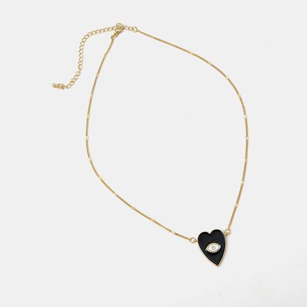 Fashion oil drop heart pendant necklace women fashion simple temperament jewelry NHQS194686