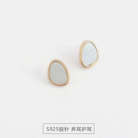 S925 silver new simple shell earrings women fashion trend advanced earrings NHQS194687's discount tags