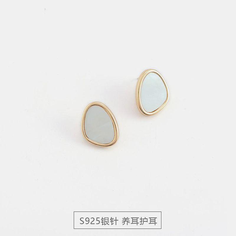 S925 silver new simple shell earrings women fashion trend advanced earrings NHQS194687