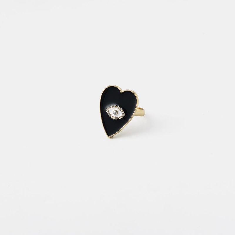 Heart shaped oil drop ring fashion simple hand jewelry for women NHQS194689
