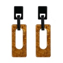 Square earrings 2020 new acrylic resin long stud earrings NHQS194699