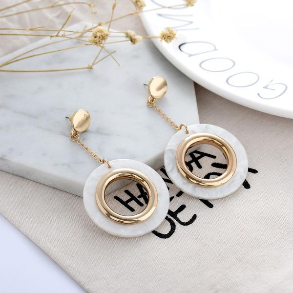 Fashion Acetate Earrings Earrings Acrylic Long Geometry NHQS194703