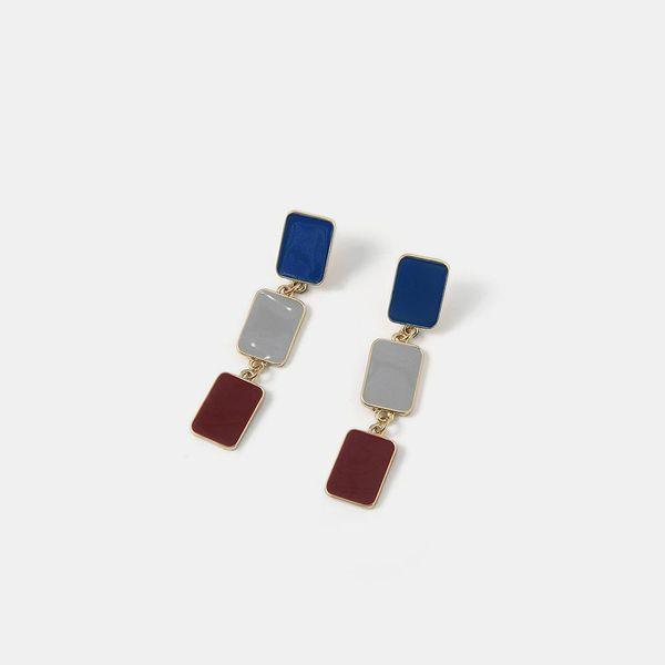 Popular oil drop color simple earrings women's jewelry S925 tremella earrings jewelry NHQS194706