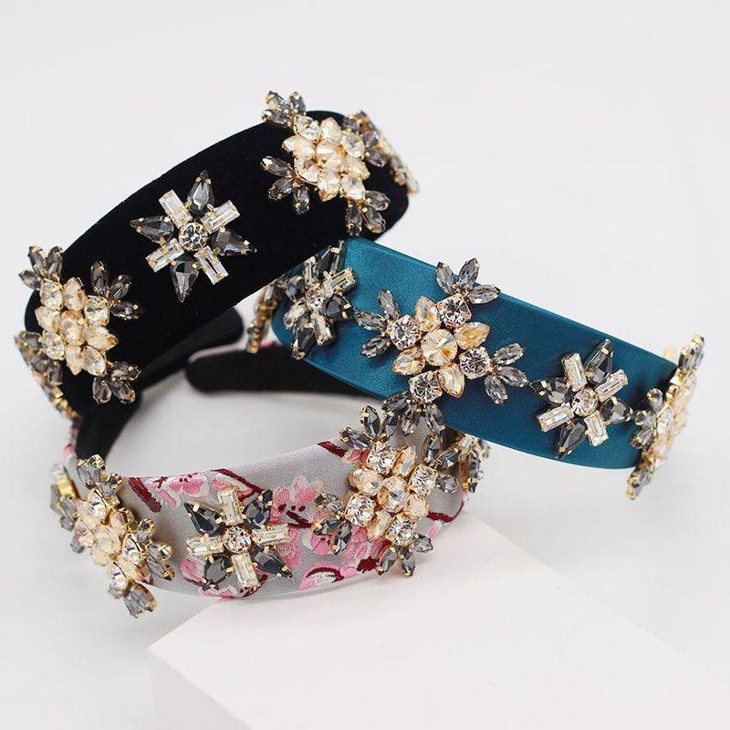 Baroque luxury court full of diamonds gem fashion headband NHWJ194714