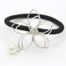 Jewelry hair accessories hair ring alloy leaves flowers strands of empty hair rope NHDP194724