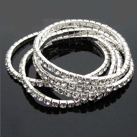 Version coréenne de bijoux en gros plein diamant à une rangée bracelet élastique bracelet brillant bracelet NHDP194725's discount tags
