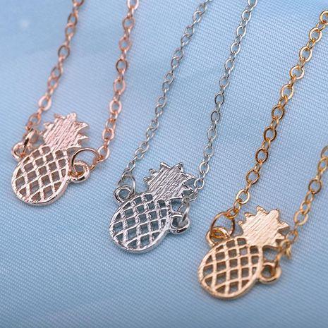 Mignon découpage tridimensionnel ananas alliage dames bracelet de fruits bracelet de cheville NHDP194727's discount tags