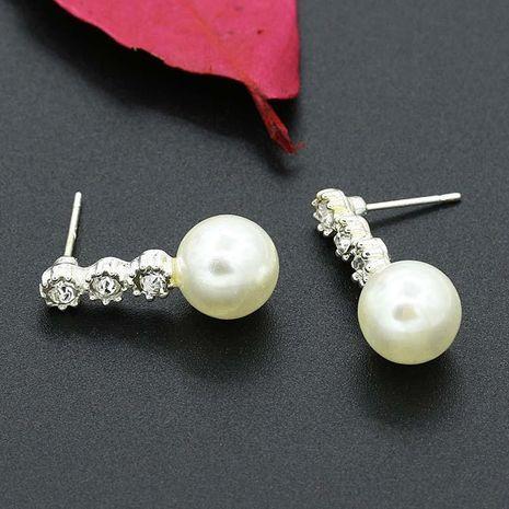 Micro-set de tres diamantes grandes aretes de perlas pendientes de gotas de agua aretes de joyería al por mayor NHCU194785's discount tags