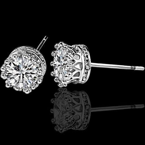 Aretes redondos geométricos pequeños pendientes de circón corona pendientes de mujer NHCU194811's discount tags