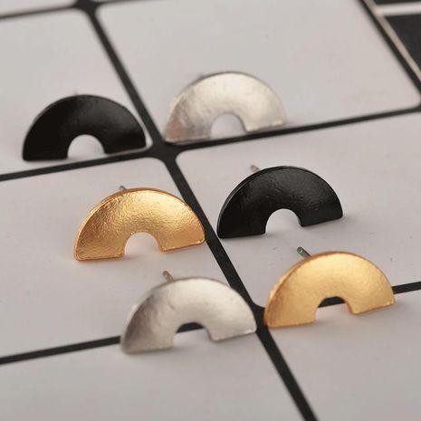 Aretes de mujer pendientes semicirculares pendientes geométricos punk protección del medio ambiente galvanoplastia pendientes de plata dorados negros NHCU194816's discount tags