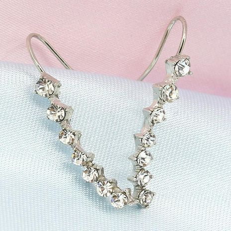 Women's Long Earrings with Rhinestones NHCU194823's discount tags