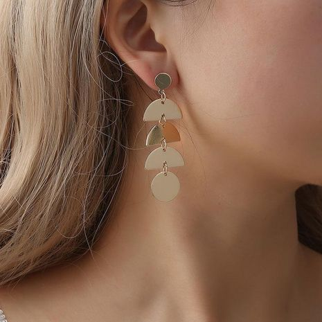 Earrings geometric elements sequins long fringed earrings earrings cute fish-shaped earrings NHCU194825's discount tags