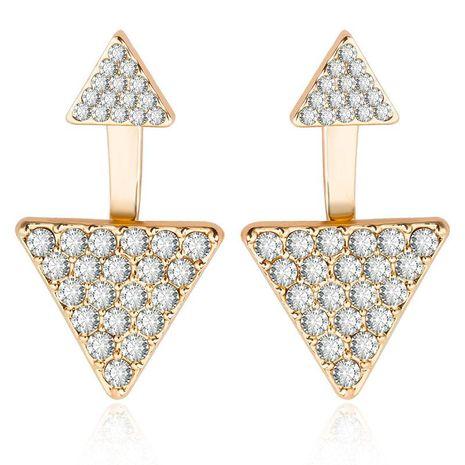 Aretes de triángulo geométrico de diamantes llenos de moda joyería de oreja de mujer NHCU194834's discount tags